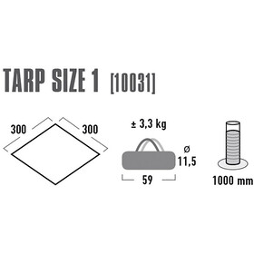 High Peak Tarp 1 Grey